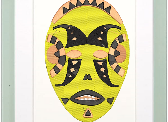 Africa Art Machine Embroidery Mask