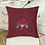 Thumbnail: Cushion cover Machine Embroidery Ladybug design design Love