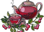 Machine Embroidery Pattern of Fruit Tea