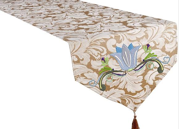Machine Embroidered Table Runner-Summer Garden design