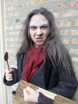 Jennifer in old age makeup
