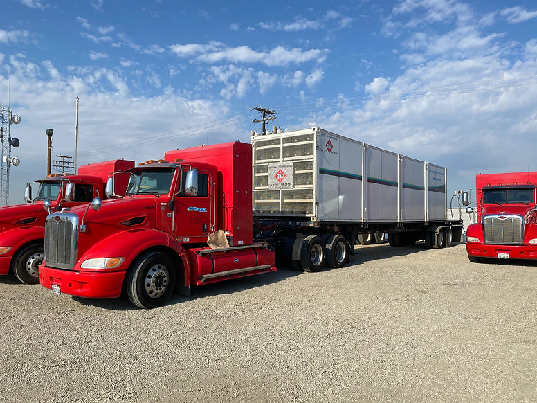 CNG Bulk Storage Tube Trailers with CNG Fueled Tractor