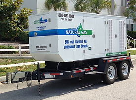 120KW Commercial Natural Gas Fueled Rental Generator