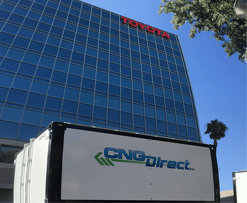 CNG Direct Supplies Natural Gas for Commercial Toyota Building