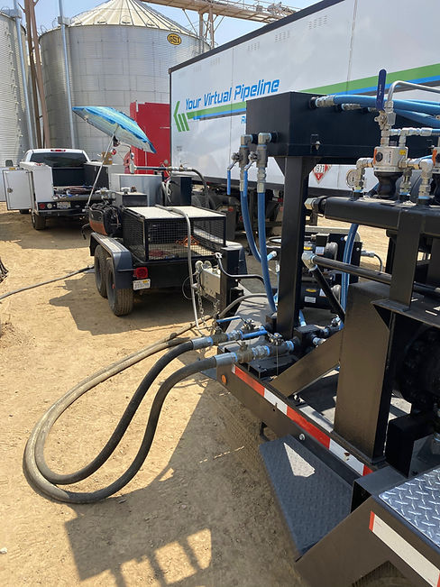 CNG Regulator Equipment Decants Compressed Natural Gas for Industrial User