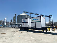 CNG Tube Trailer Offloading RNG Gas into National Gas Grid