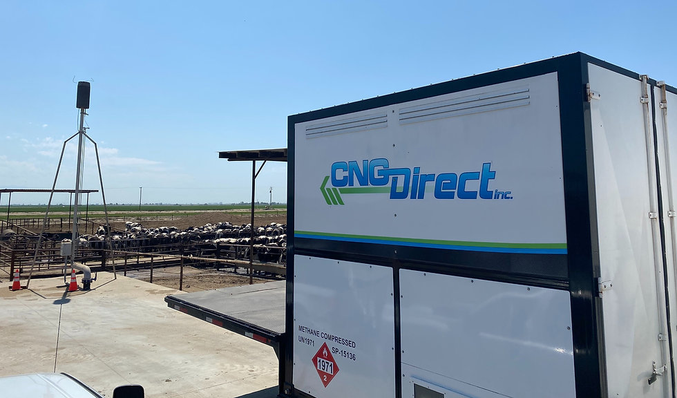 RNG Produced at California Dairy Transported by CNG Trailers