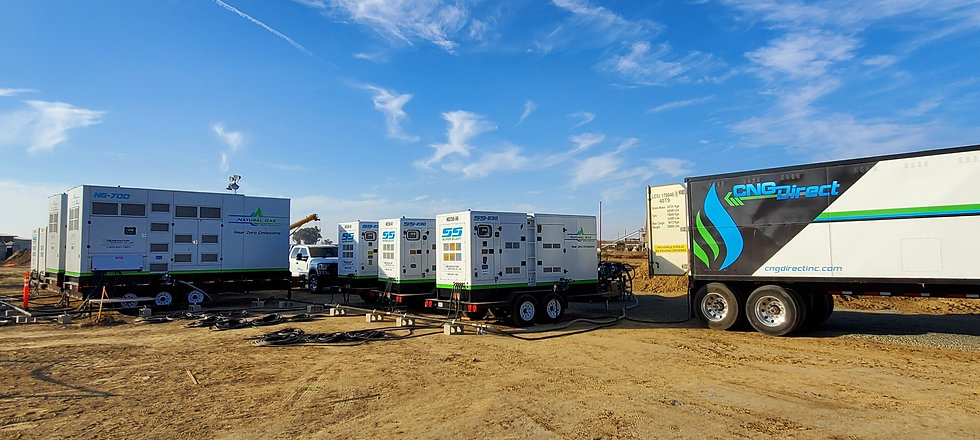2MW of Natural Gas Generator Power