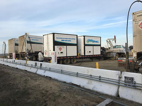 cng virtual pipeline flare gas site