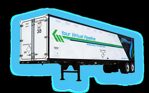 Compressed Natural Gas CNG Bulk Storage Trailer