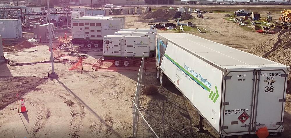Compressed Natural Gas Tube Trailer Fuels Generators
