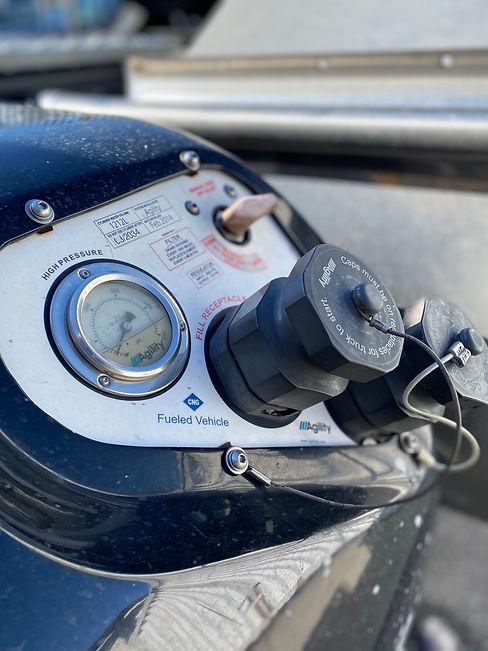 CNG Truck Fueling Gauge