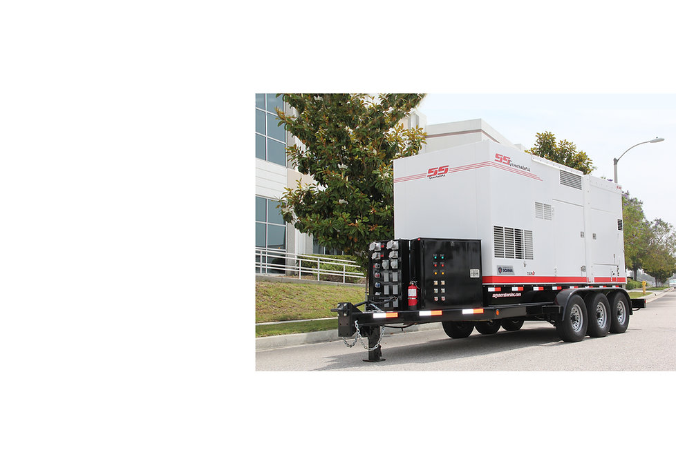 Mobile Diesel Generator Customized with Controls and Hook Ups