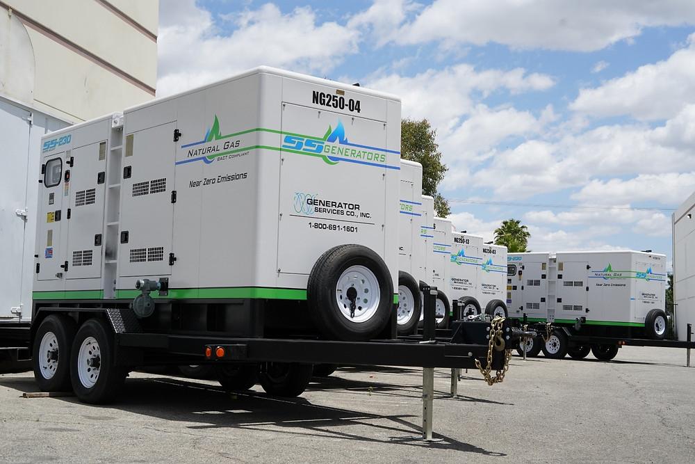 Natural Gas Generators Fleet