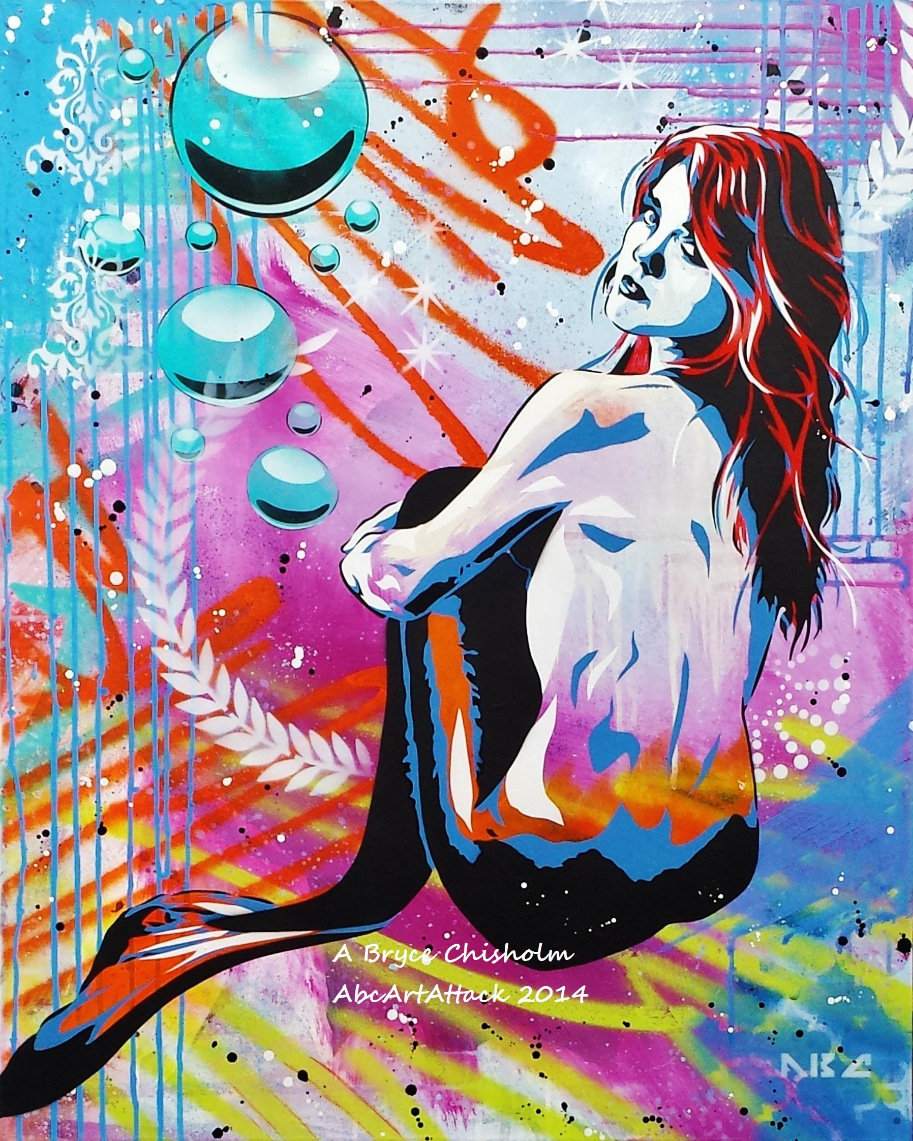 Mermaid Believe 24x30in 2014 (2).jpg