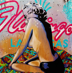 Flamingo Pinup 4x4ft 2014