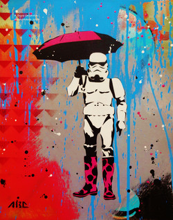 Stormtrooping in the Rain 11x14in 2013