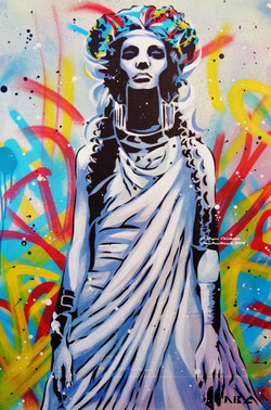 Goddess of Graffiti 24x36in 2014