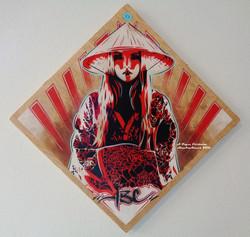 Rose Kimono Rays 24x24in 2016