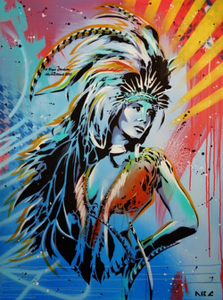 Fabled Feather 30x40in 2015