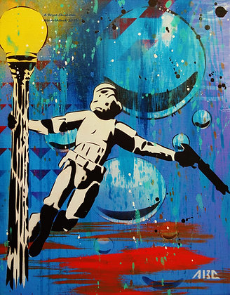 Stormtrooping in the Rain, 11x14 inch print