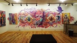 Eclectic Nuances gallery mural