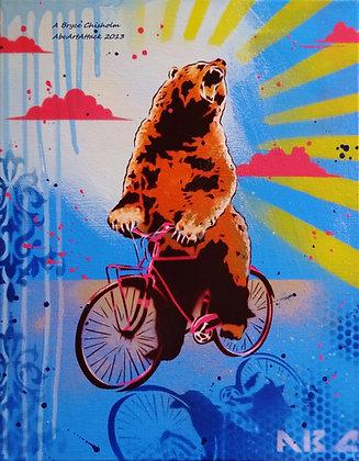 Bear Back Rider 11x14in print