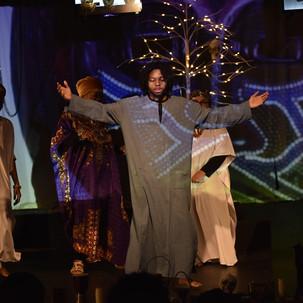 Cast members: Yayra Tamakloe, Huda Alhamed, Mike Esekwen, Madison Ledyard-King, and Dr. Deana Thomas