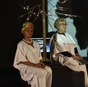 Cast members: Yayra Tamakloe and Huda Alhamed