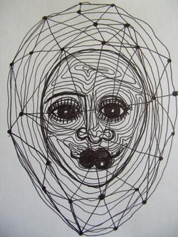 Web Face (2012) Unframed