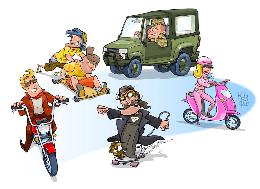 Personagens jogo CAIXA