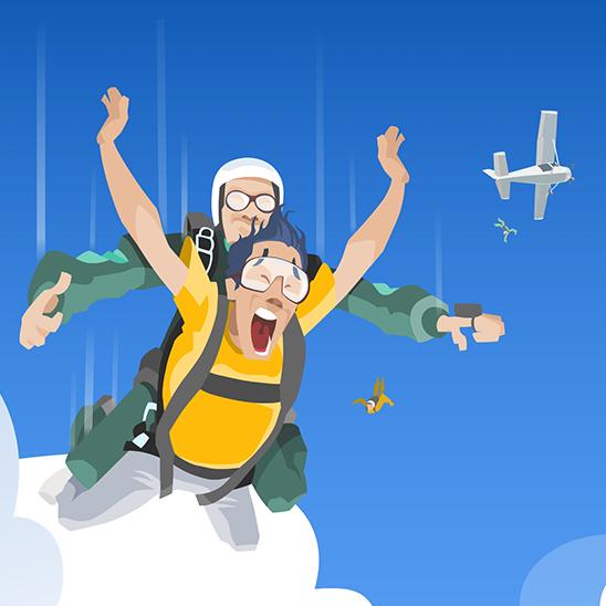 Ilustração p/ site Body Flight