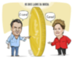 Aécio e Dilma