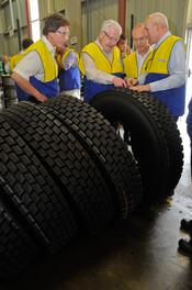 Visita do presidente da Michelin mundial à fábrica de Itatiaia