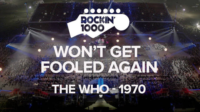 Won't Get Fooled Again - The Who / Rockin'1000 at Milano-Linate