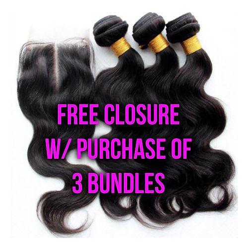 FREE Closure w/ 3 Bundle Deal