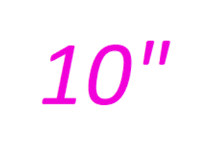 10 inches