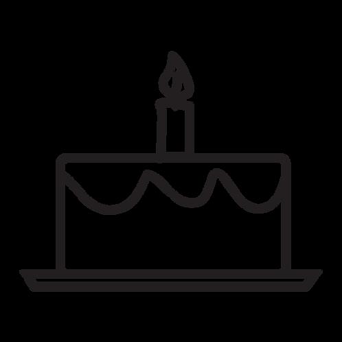 Single Tier Cake - Semi Custom