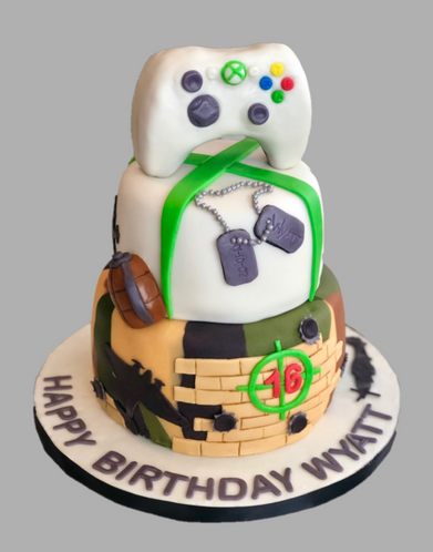 Xbox - WW2 Themed Cake