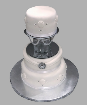 Wedding Cake - White Elegant