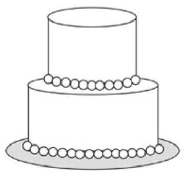 Two-Tier Semi-Custom Cake
