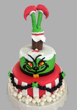 Grinch Cake - Two-Tier