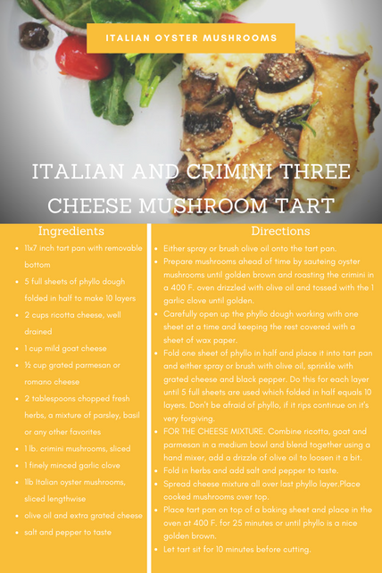 Italian & Crimini 3 Cheese Tart