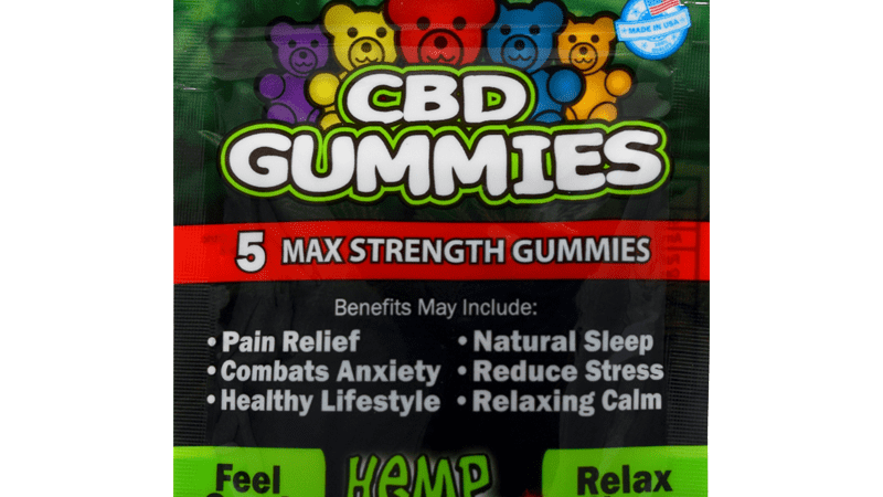 Hemp Bombs - 5 Count CBD Gummies-Max Strength Complete Relaxation