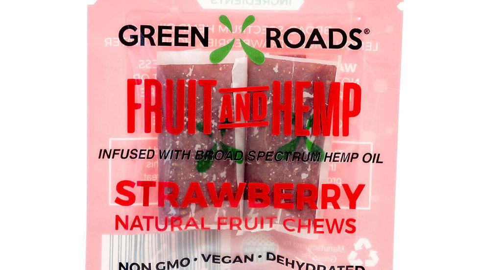 Green Roads - 25MG Strawberry Fruit and Hemp Chews