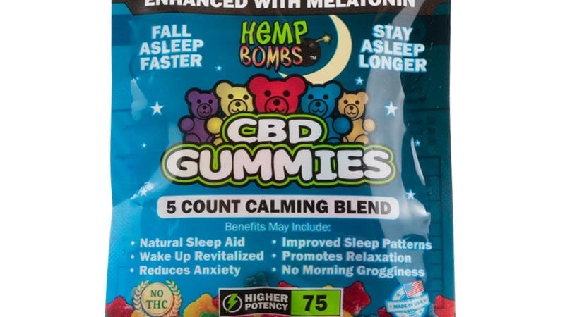 Hemp Bombs - 5 Count CBD Sleep Gummies Bag (Complete Serenity)