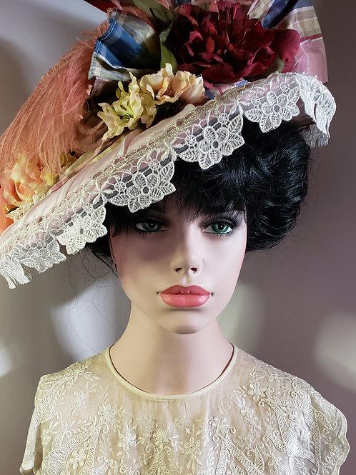 Pastel garden edwardian hat