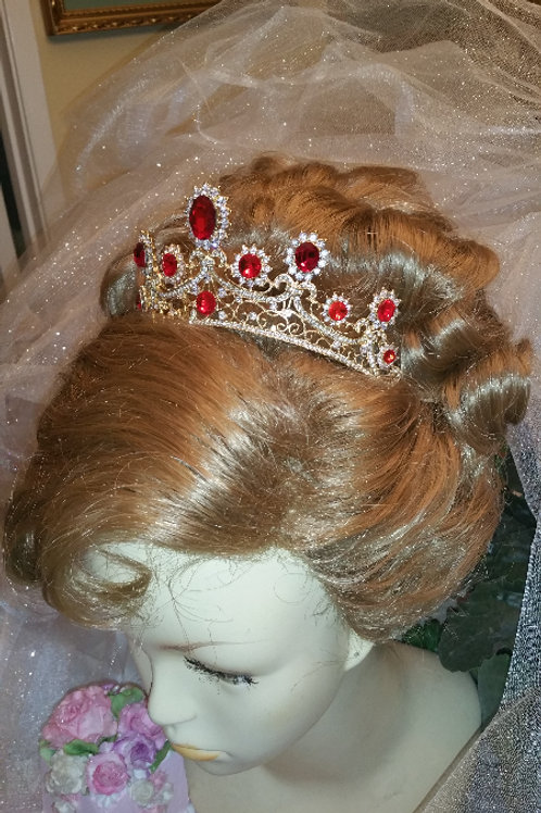 GARNET red princess tiara