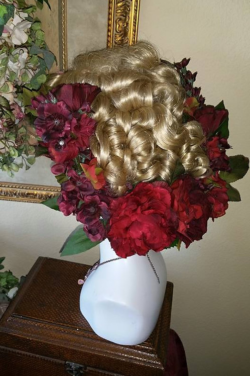 Wine red Floral Head piece Large
