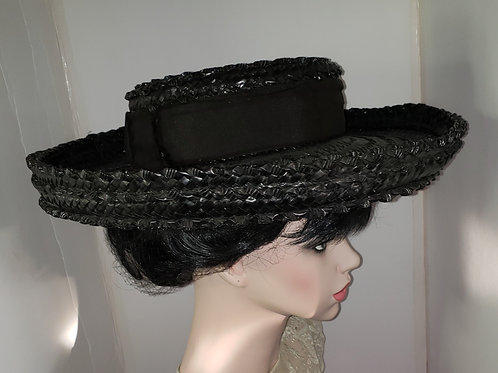 Graceful real antique  edwardian straw hat